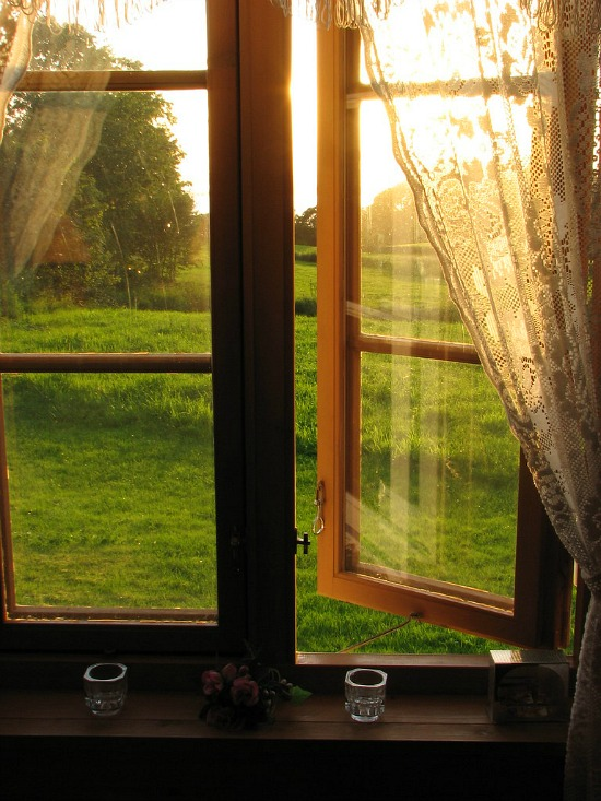 open window sunrise
