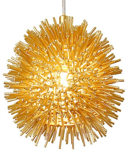 Urchin 1-Light Gold Uber Mini Pendant