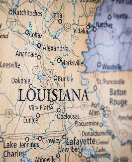 Louisiana-Mississippi-map