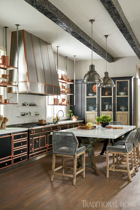 French copper kitchen