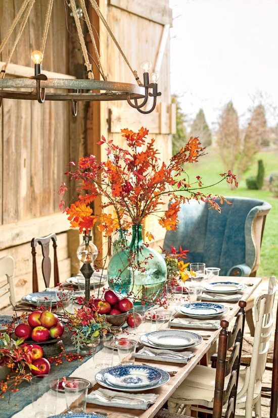 naturally striking fall arrangements