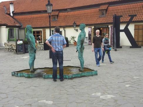 Kafka Museum Statues, Prague