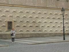 Palace wall outside Prague Castle