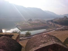 Kesar Kyari Bagh gardens on the lake below the fort, named after the saffron flowers once planted there