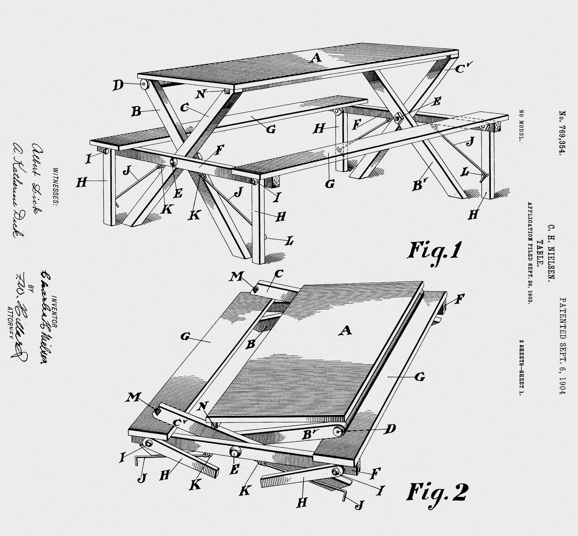 hight resolution of c h nielsen table u s patent 1904