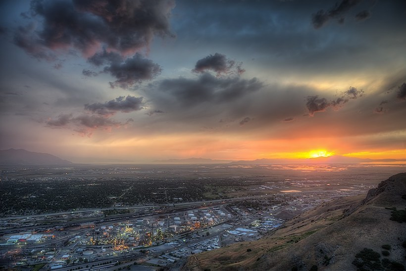 Salt Lake City Sunset - Click to see in high resolution