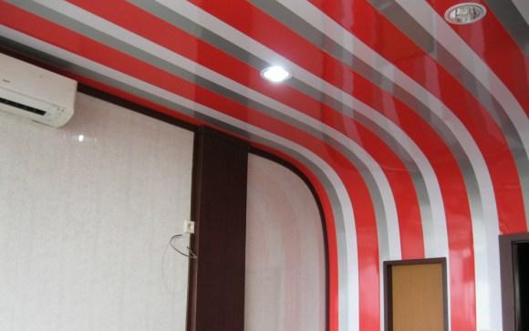 Contoh plafon PVC dengan desain fun