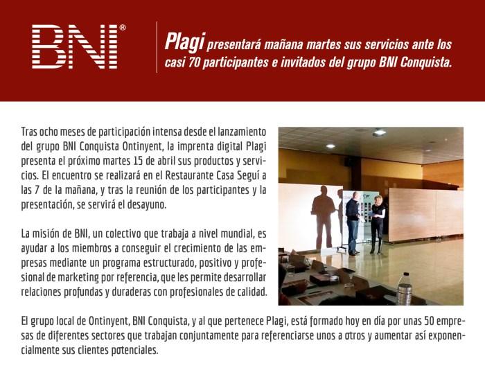Ensayo Presentación Plagi BNI