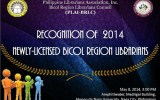 Recognition of 2014 Newly-Licensed Bicol Region Librarians