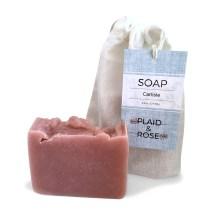 Carlisle Plaid & Rose Cocoa Butter Soap