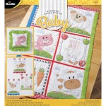 Shop Plaid Bucilla Baby Stamped Cross Stitch Crib Ensembles Farm Animals Quilt Blocks 47731 47731 Plaid Online
