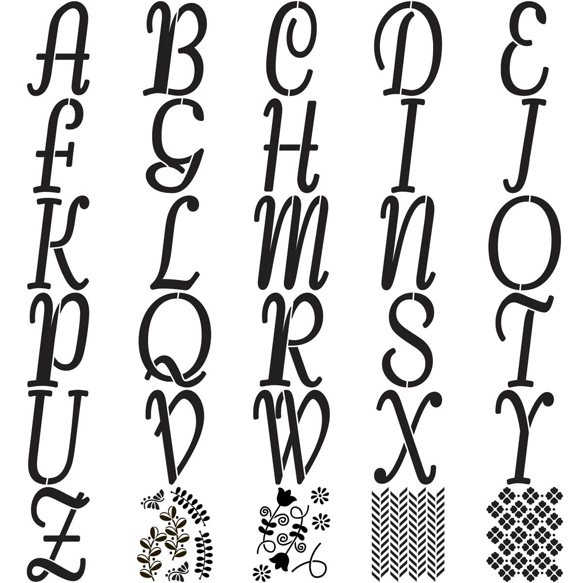 Shop Plaid FolkArt ® Alphabet & Monogram Paper Stencils