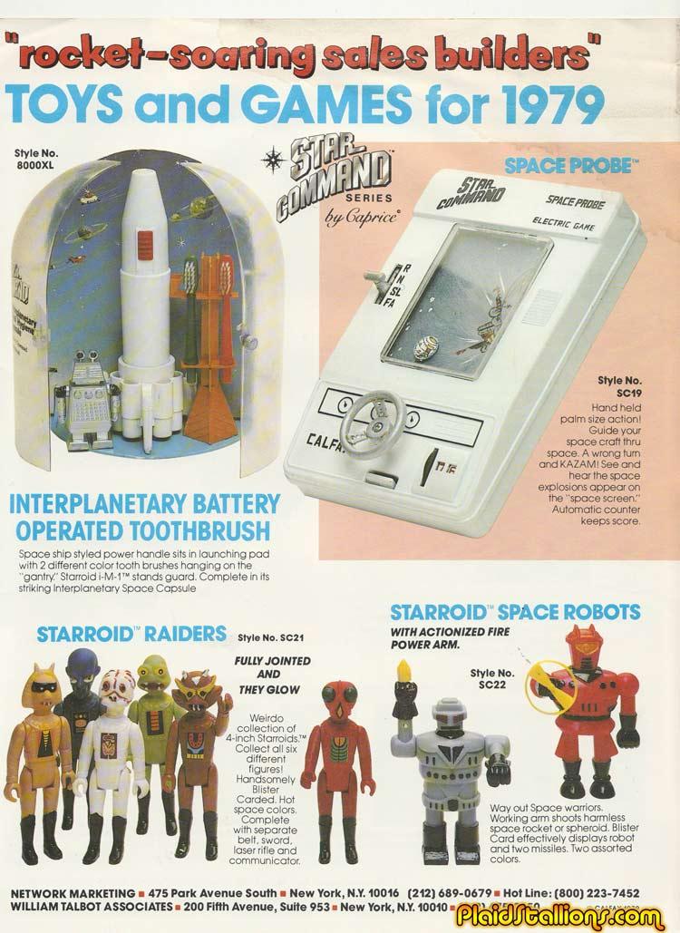1979 Tomland Toys Catalog I Starroid Raiders I Calfax I Rack Toys I Plaidstallionscom