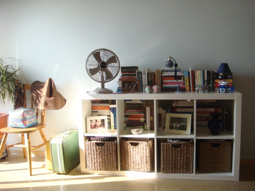 Bedroom stacks: More books and bits