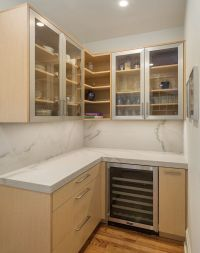 Simple and Warm Contemporary Cabinets with a ...
