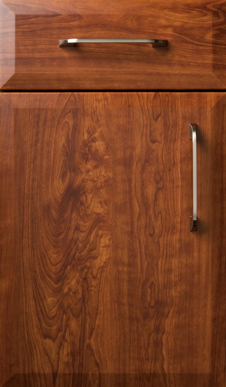 Novara Dark Cherry Satin  Plain  Fancy Cabinetry