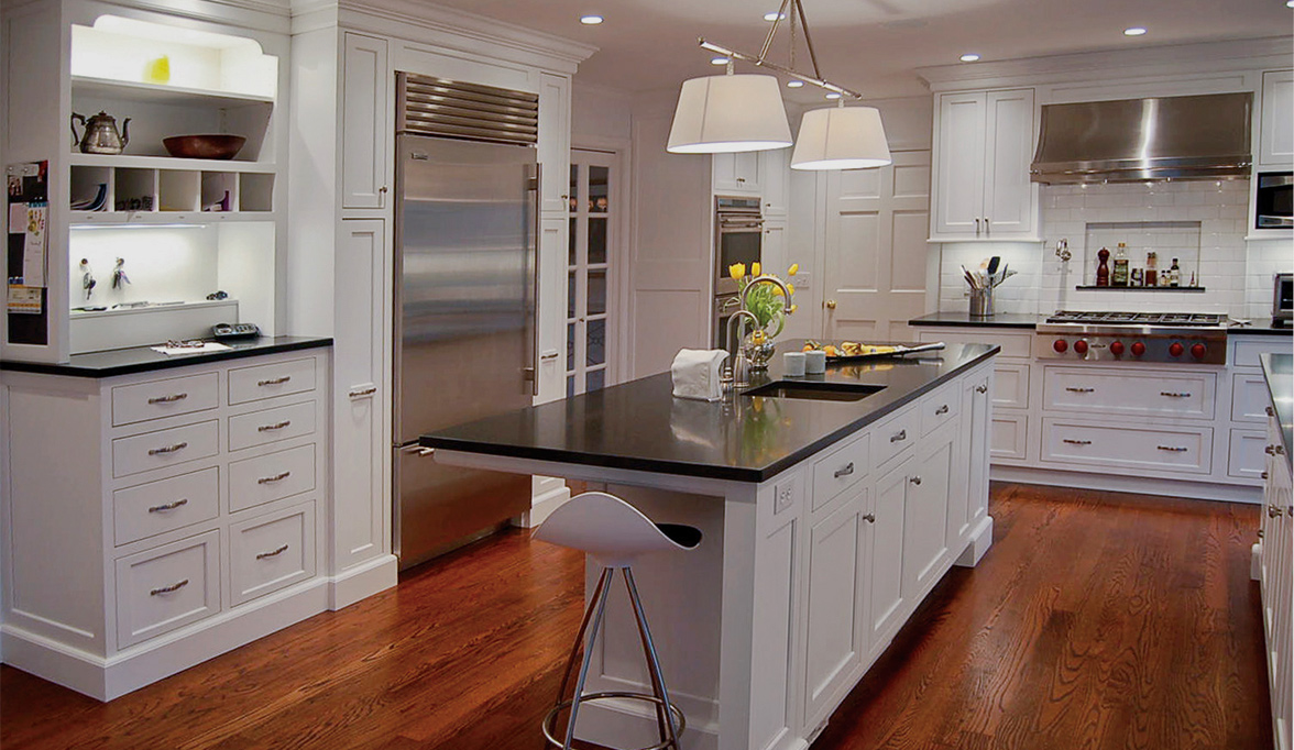 Contemporary Kitchen Cabinets With White Luster Custom