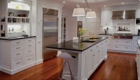 White Luster Kitchen Cabinets | Plain & Fancy Cabinetry