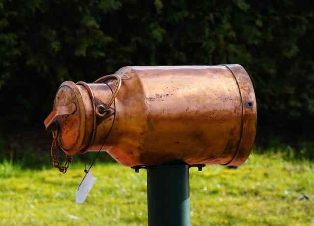 Old milk can letterbox