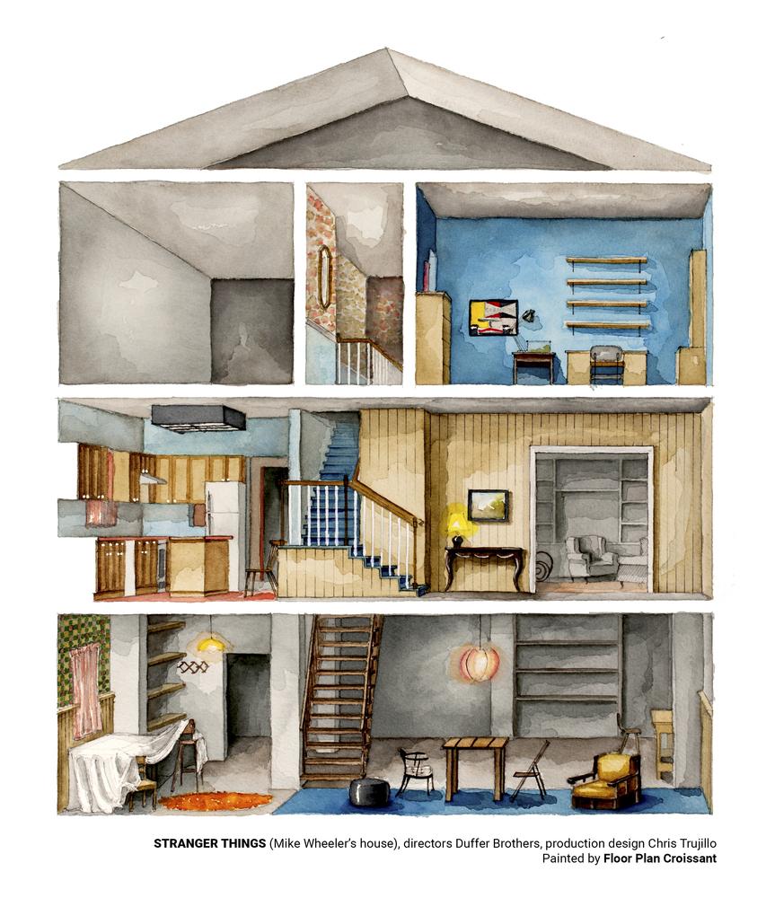 artist boryana ilieva creates illustrations of floorplans from tv