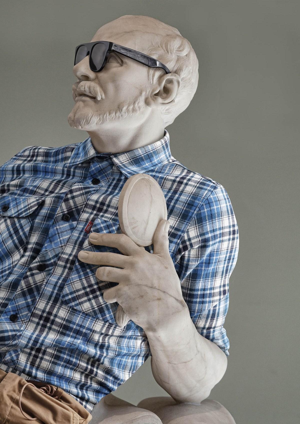 Hipster in Stone Leo Caillard Art