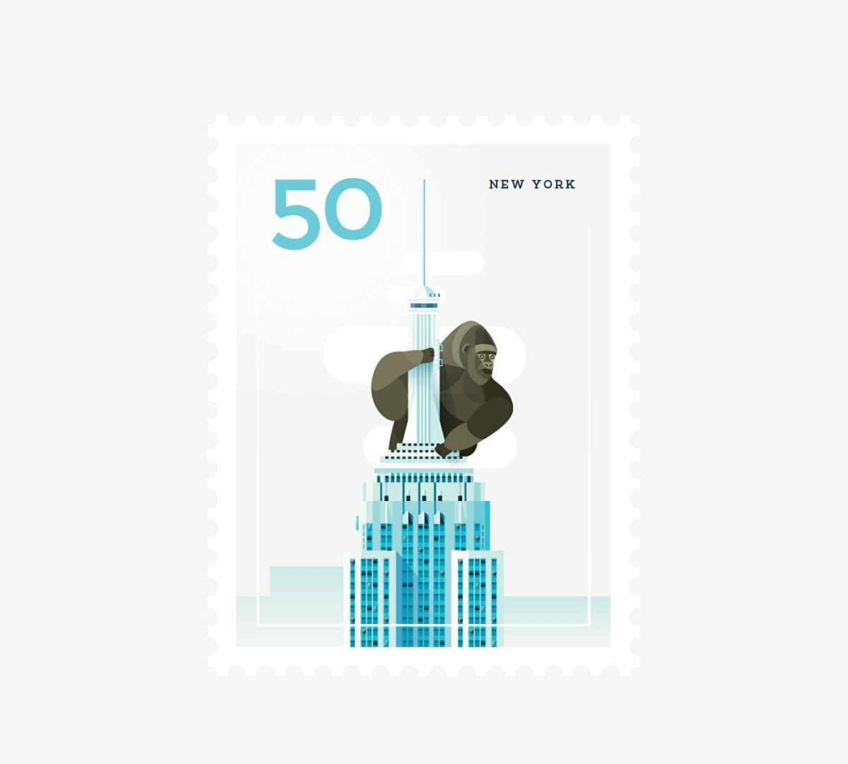 Elen Winata Cities Stamps Illustration Art