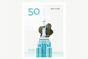 Elen Winata Cities Stamps Illustration Art
