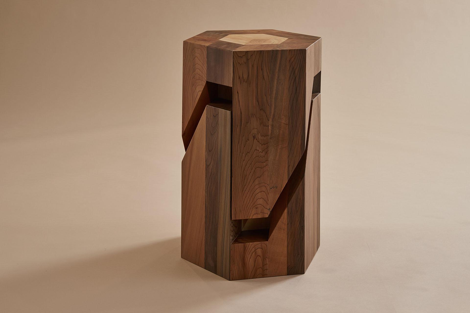Sensational Japanese Puzzle Inspired Stools By Studio Tamen Plain Magazine Ibusinesslaw Wood Chair Design Ideas Ibusinesslaworg
