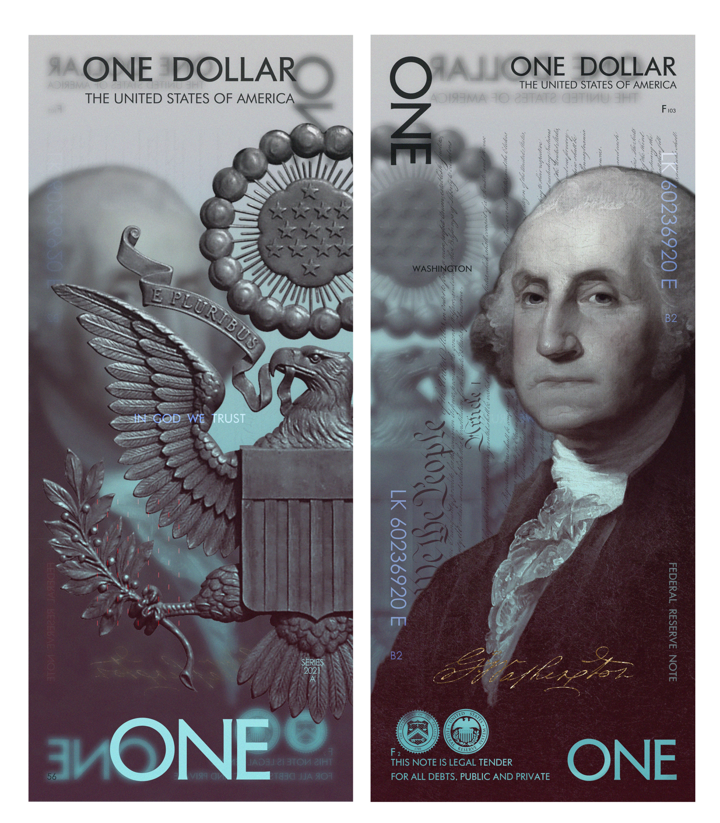 The US Dollar Gets a Cool New Look by Designer Andrey Avgust - PLAIN Magazine