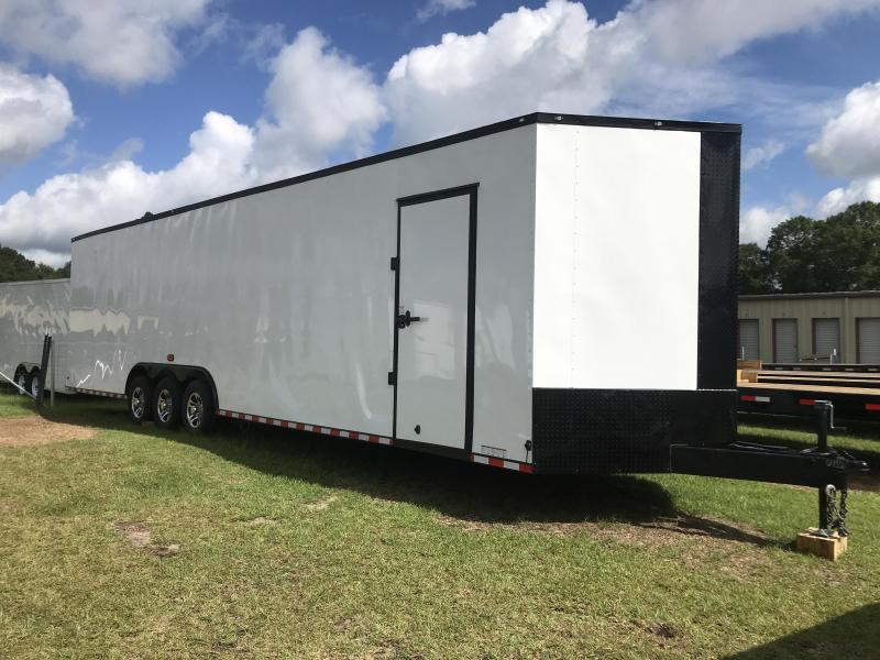 Check Out The Diamond Cargo V Nose Triple Axle 8.5x34 Trailer 1
