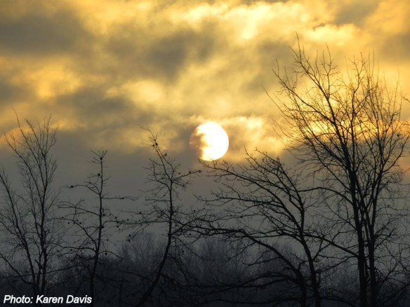 Sun in clouds - Karen Davis Photo