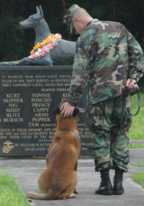 Always Faithful, Doberman, Military Working Dog, MWD, World War II Memorial, War Dog Cemetery located on Navel Base Guam - Courtesy of PhotoDropper