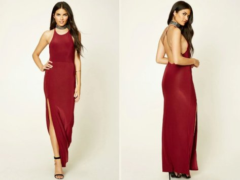 Contemporary Slit : Wine Colored Prom Dresses At Forever 21