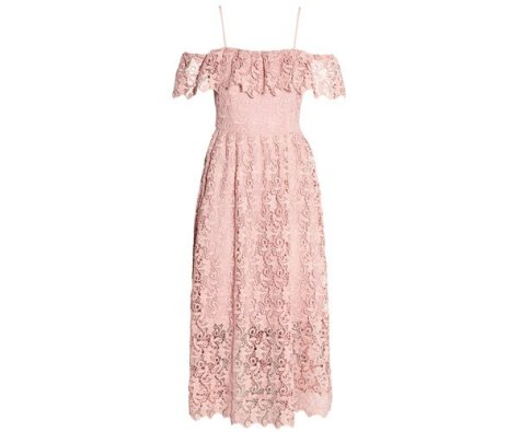 H&M Off-the-shoulder Lace Dress