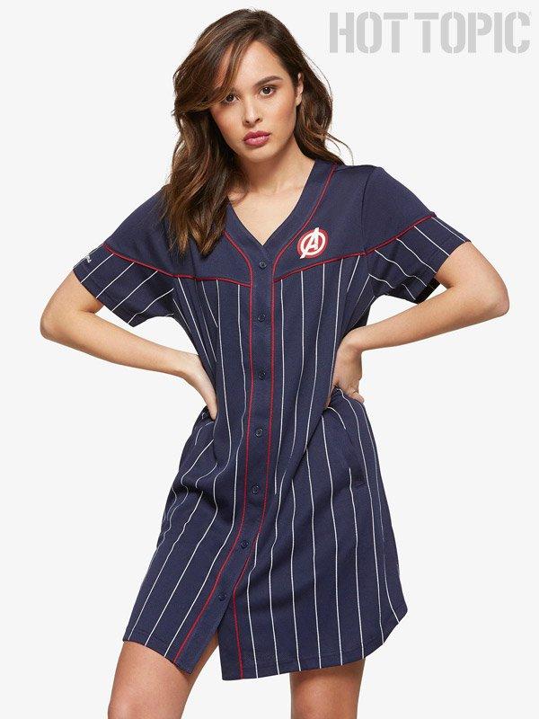 HOT TOPIC Baseball T-Shirt Dresses for Women
