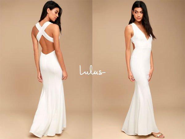 LulusHeaven And Earth White Maxi Dress