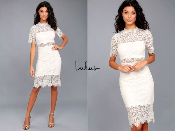 Lulus Remarkable White Lace Dress