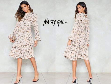 Nasty Gal Spring Street Floral Dress