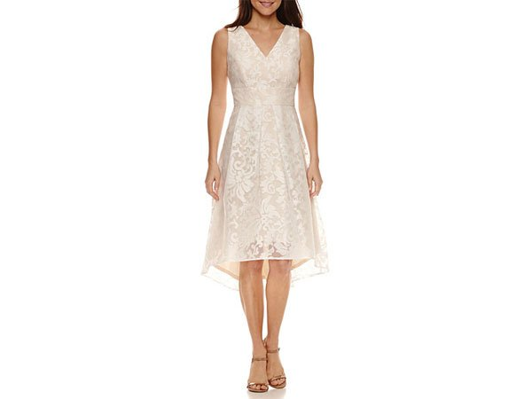 JCPenney Robbie Bee Sleeveless Lace Floral Swing Dress