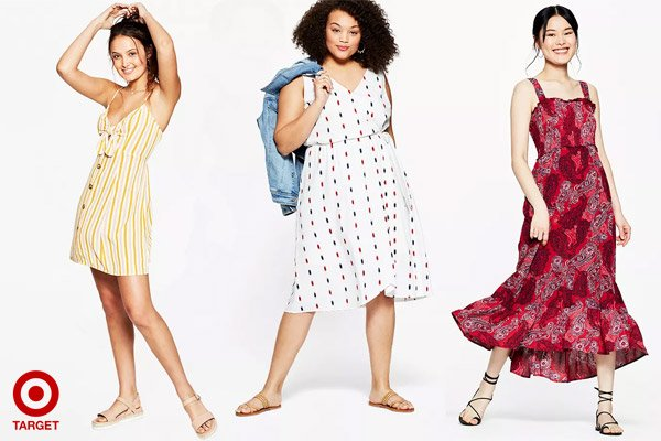 Target Women's Summer Dresses in Regular and Plus Size