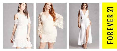 Cheap White Dresses At Forever 21 for Women and Plus Size