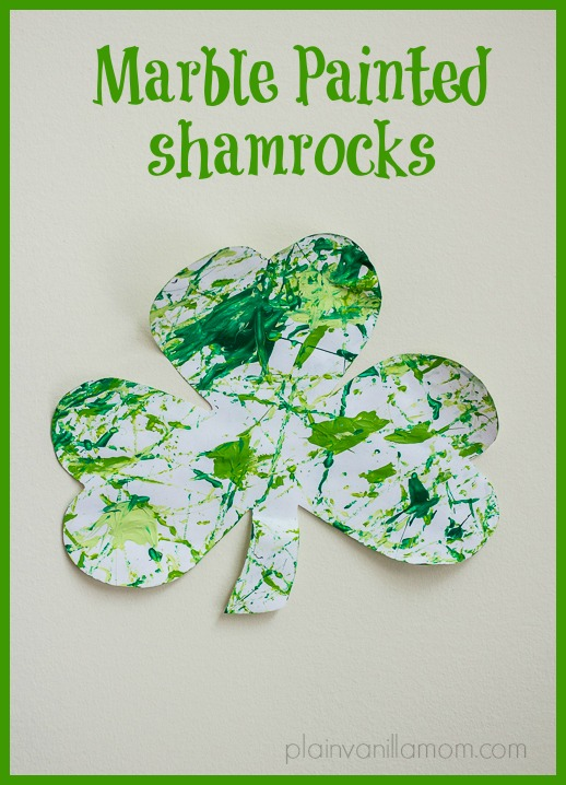 marble painted shamrocks