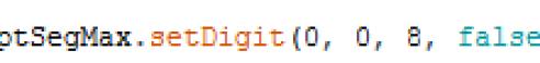 instruction setDigit 4 paramettre