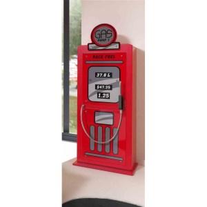 GAS PUMP WARDROBE RED * - SOMMIER COMPRIS