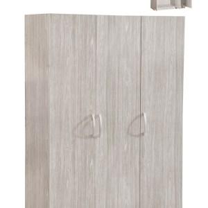 SEDEN Armoire 3D/P. CHENE GRIS 180x120x50