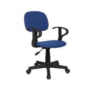 Chaise de bureau Happy PU nylon BleuH 80/88 x L 51 x P 39 cmPieds métal et plastic