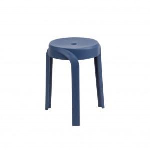 Set de 6 x Tabouret Aimé Bleu foncéH 45 x L 35 x P 35 cm