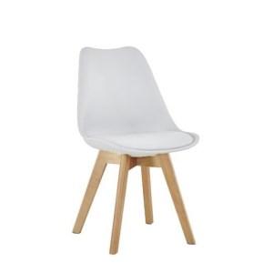 Chaise Retro Blanc/BlancH 83 x L 54 x P 48 cm
