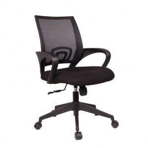 Chaise de bureau Orlando PU nylon NoirH 89/98 x L 58 x P 50Pieds métal et plastic
