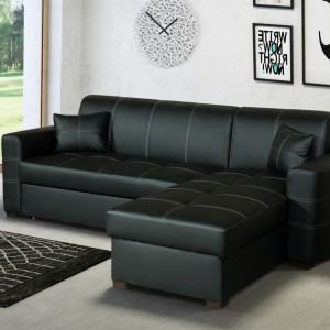SMIAMI Salon d'angle avec meridienne Gauche ou droite convertible en lit